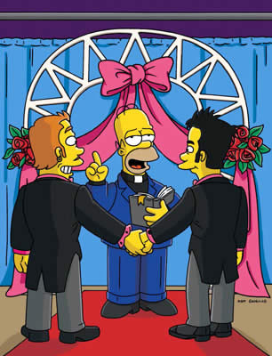 Homer now pronounces you husband and husband